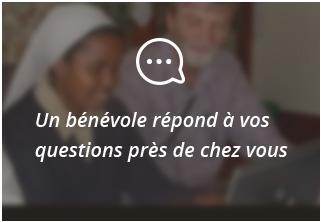 Un bénévole répond à vos questions près de chez vous