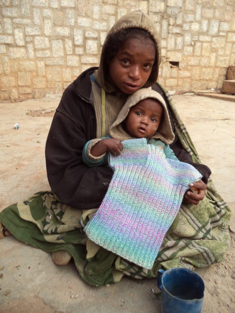 Beau cadeau des tricoteuses