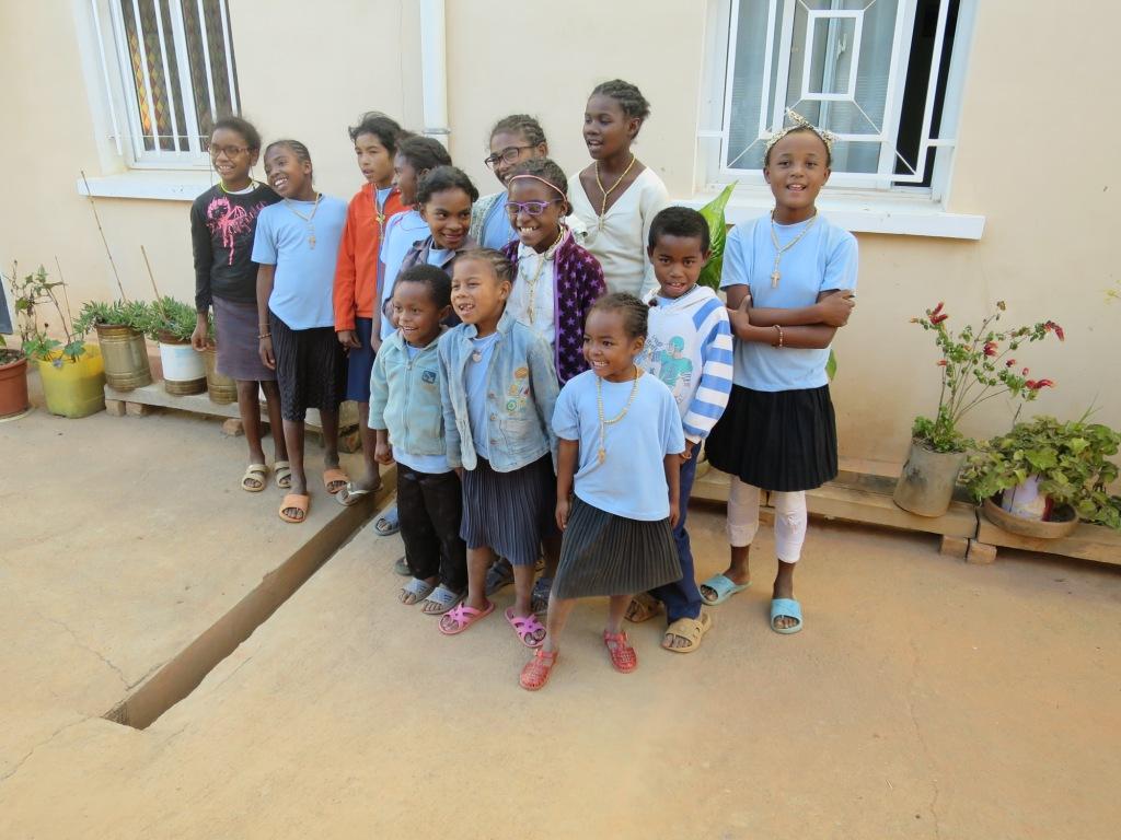 A l'orphelinat Jean Paul II - le bonheur sur les visages